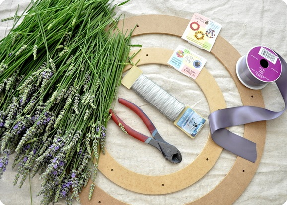 lavender wreath supplies