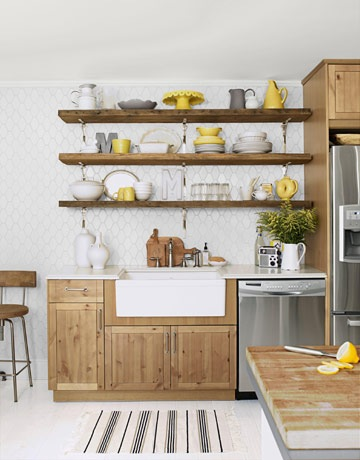 open rustic kitchen cabinets Timeless or Trendy? Open Shelving in Kitchens
