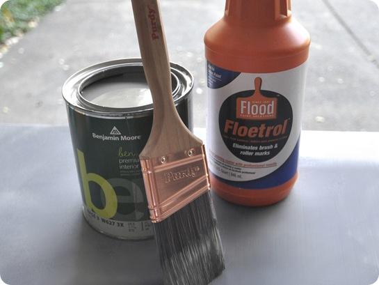 paintbrush and floetrol