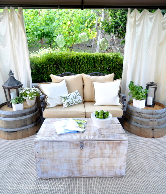 DIY Side Table | 21 Ways to Reuse A Barrel On Your Homestead