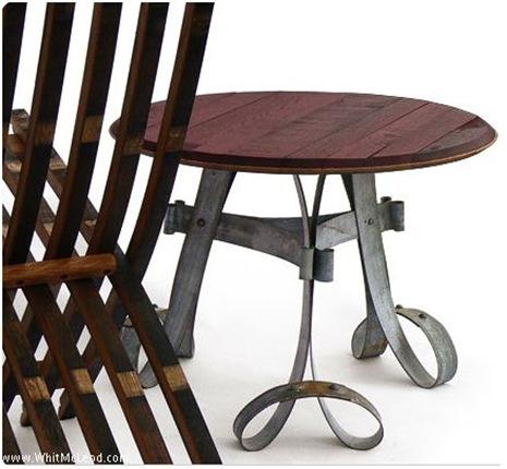 whit mcleod wine barrel table