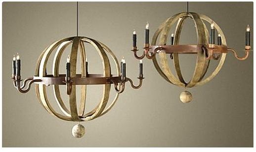 wine barrel planet chandelier