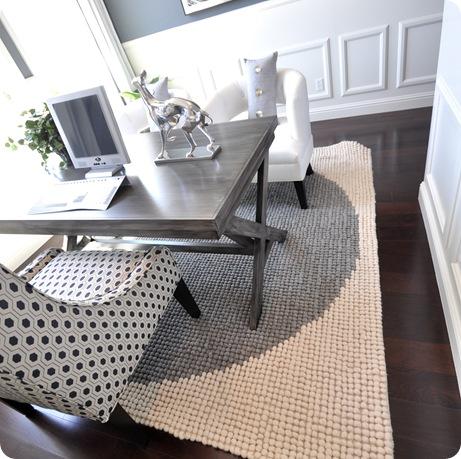 gray circle rug