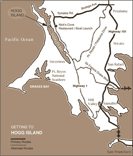 Hog Island Tomales Bay Map