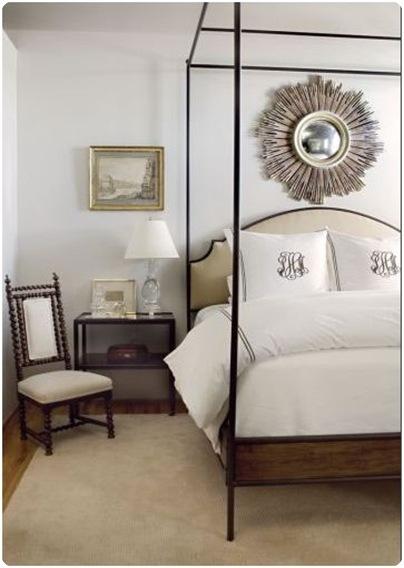 Great James Michael Howard Sunburst Mirror Bedroom