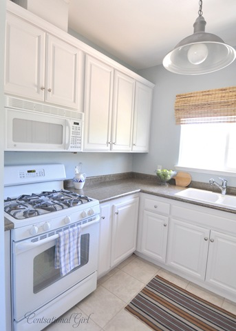 painted kitchen cabinets with white appliances mini kitchen makeover centsational 9053