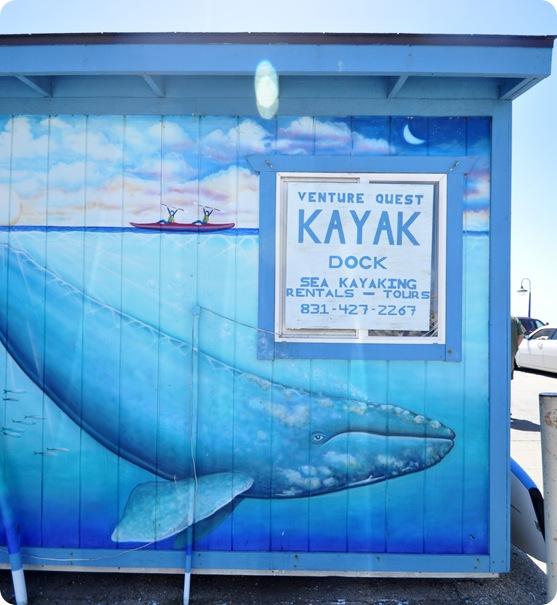 kayak dock sign