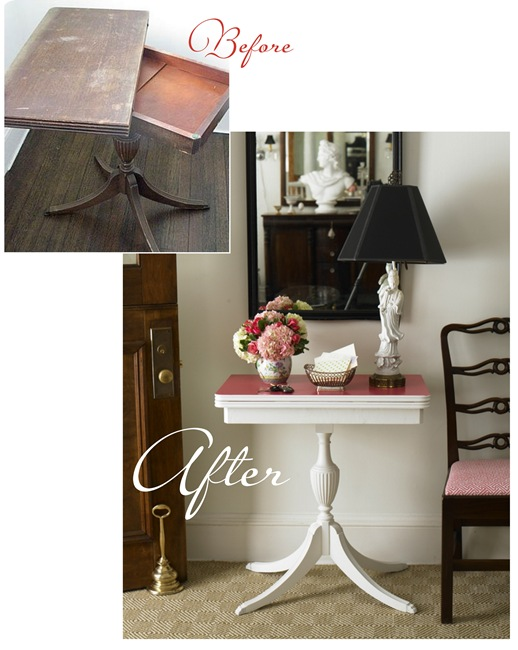 pedestal table before and after