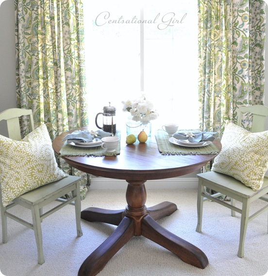 girl refinished wood table - Refinishing Wood Table