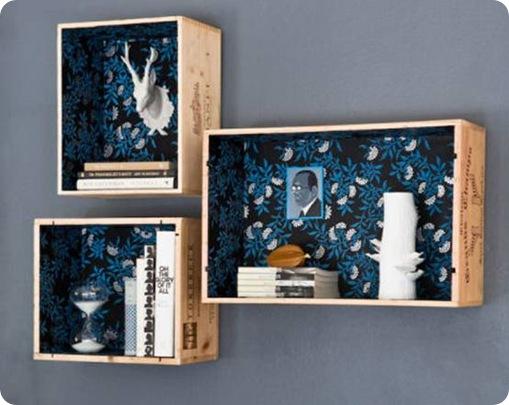 design sponge rustic wood crate shelf
