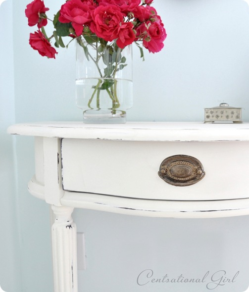 old white chalk paint console