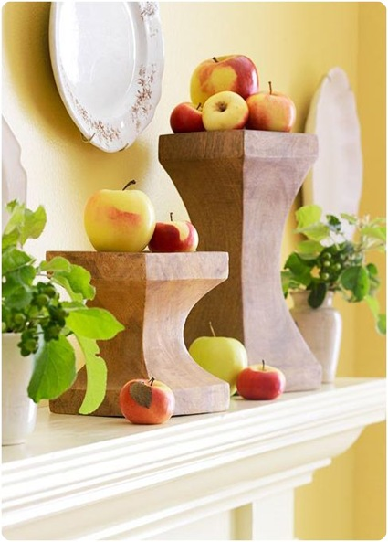 bhg fall apples on candlesticks