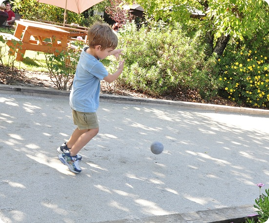boy and bocce