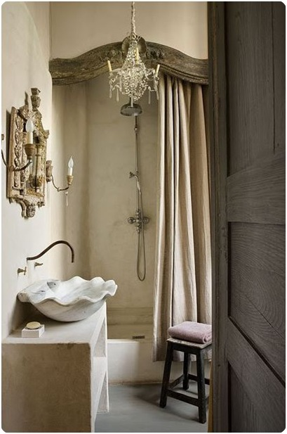 old world neutral bathroom