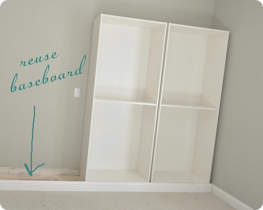 reuse baseboard in front