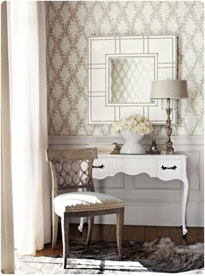 thibaut harlequin pattern neutral wallpaper