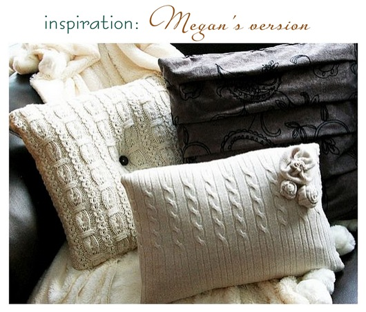 brassy apple sweater pillows