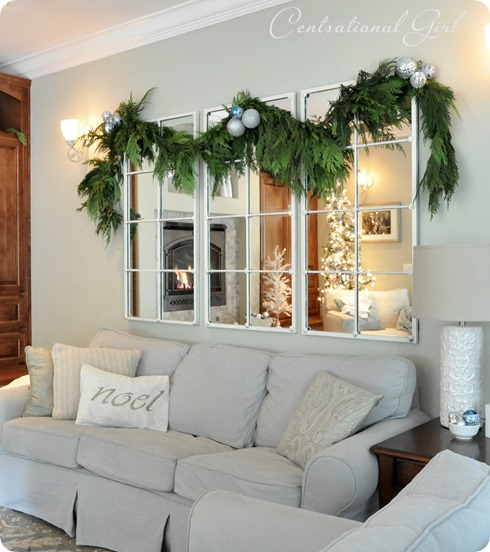 christmas family room garland