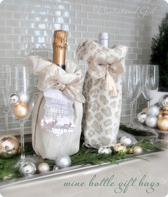 diy wine bottle gift bags cg