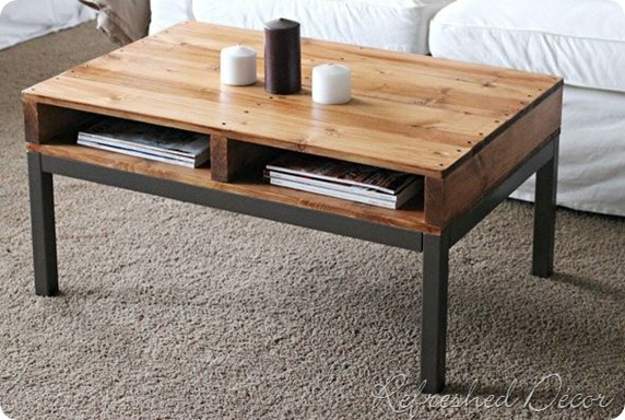 pallet coffee table refreshed decor