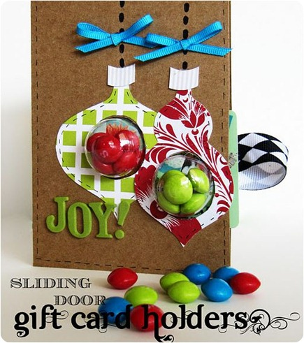 sliding door gift card holder