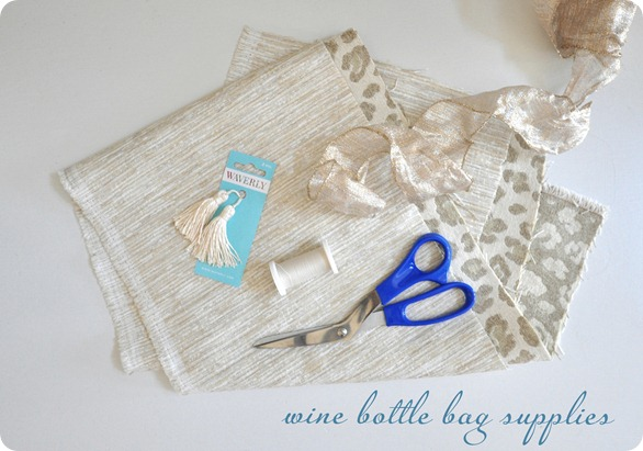 wine bottle bag supplies