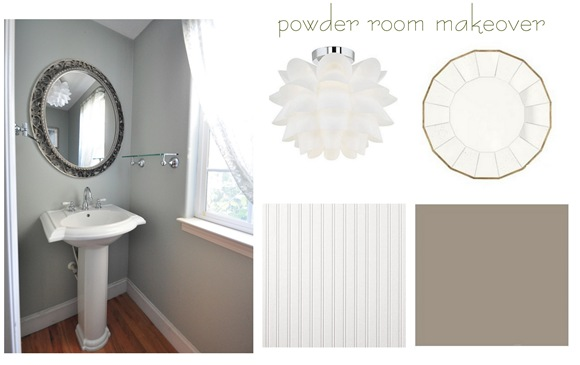 powder room makeover