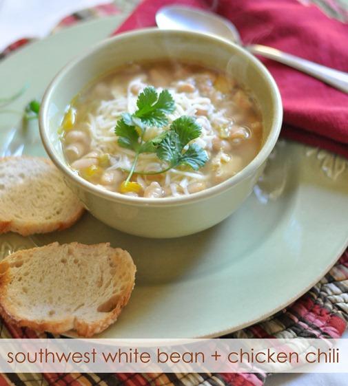 southwest white bean   chicken chili