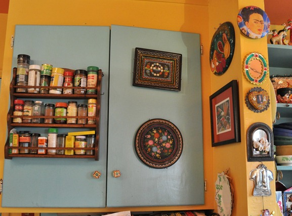 blue and yellow kitchen 2
