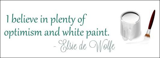 elsie de wolfe optimism and white paint