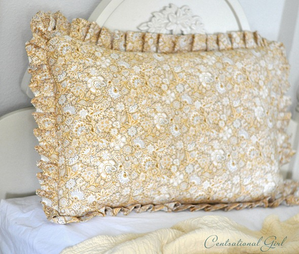 pleated pillow sham cg