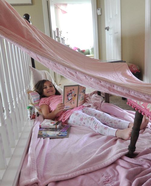 little girl tent