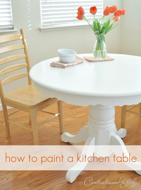 Superior Painting A Kitchen Table Is An Easy Project! As Long As You Follow The  Steps, Youu0027ll Have A Paint Job That Lasts For Years To Come!