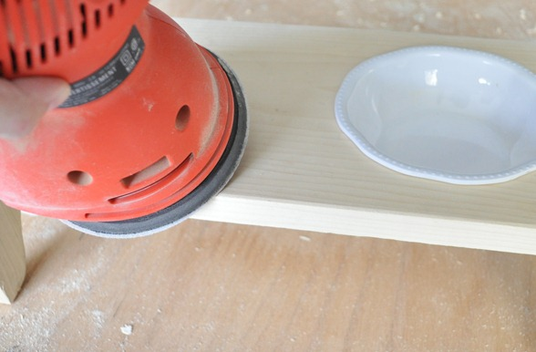 round edges with sander