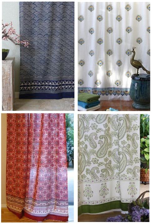 saffron marigold shower curtain sheer