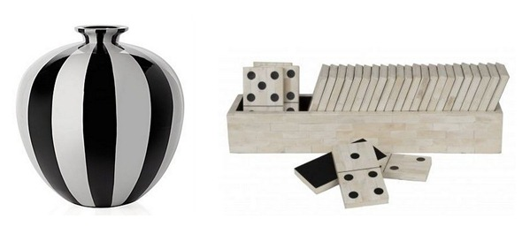 vase and dominoes
