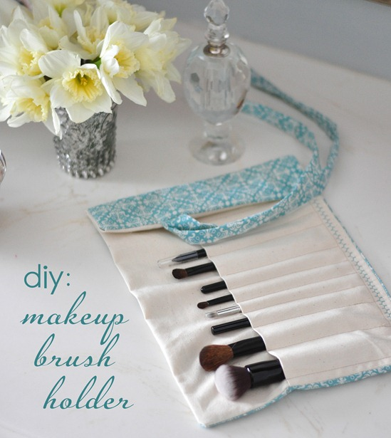 diy make up brush roll