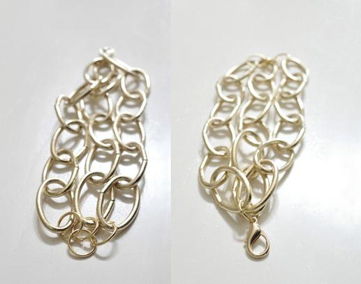 gold bracelets front and back