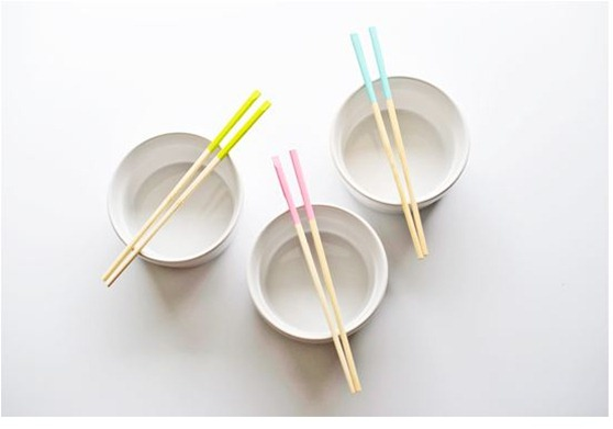 paint dipped chopsticks poppytalk