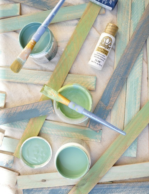 paint shims with paint samples