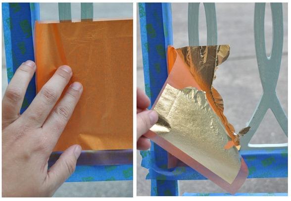 press and peel gold leaf