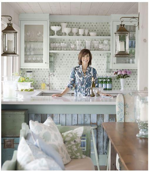 sarah richardson cottage kitchen white ceramics
