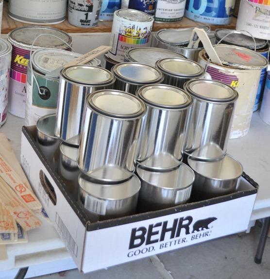 silver quart paint cans