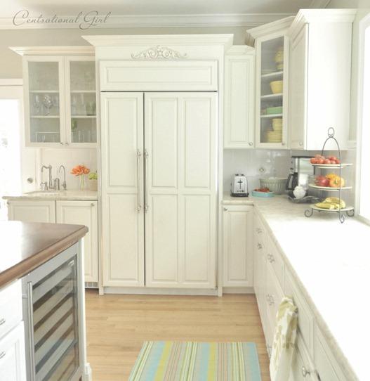 white paneled refrigerator
