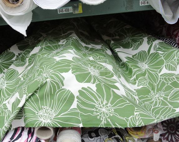 mod green floral