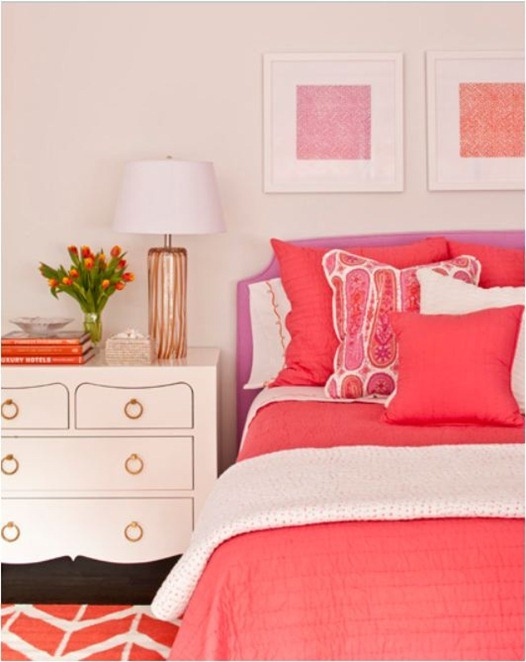 phoebe howard pink and coral bedroom
