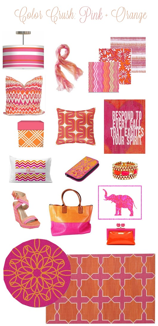 pink and orange color crush