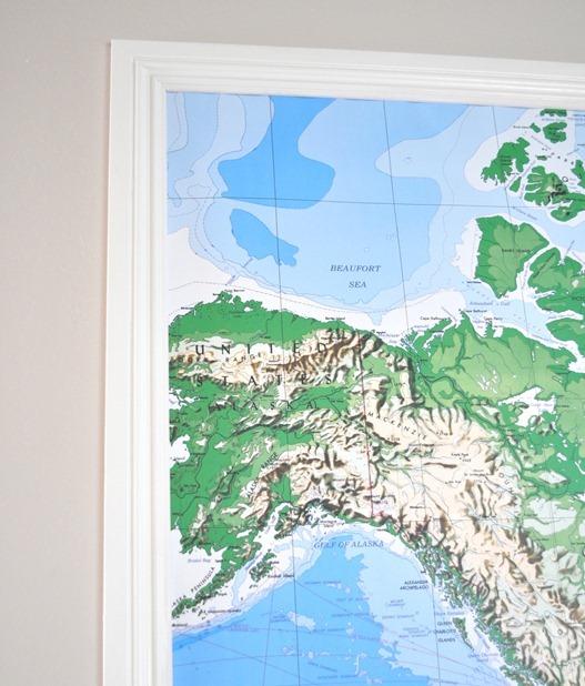 trim around map