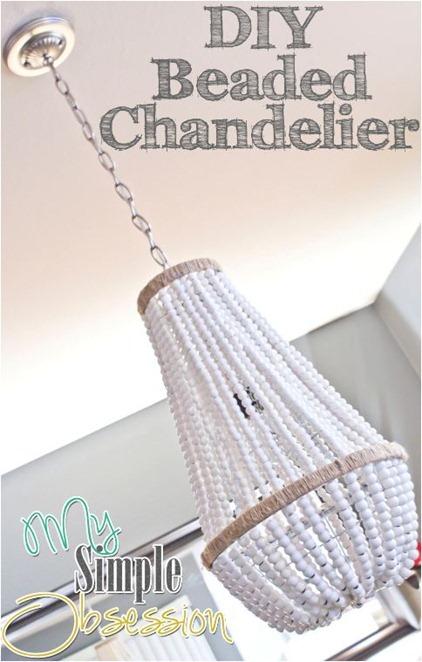 diy beaded chandelier
