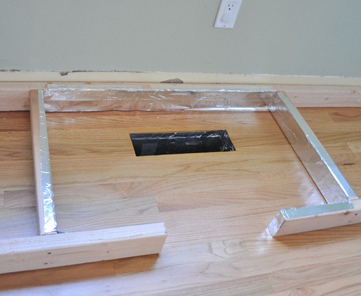 frame on floor